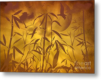 Bamboo Garden II Metal Print by Angela Doelling AD DESIGN Photo and PhotoArt
