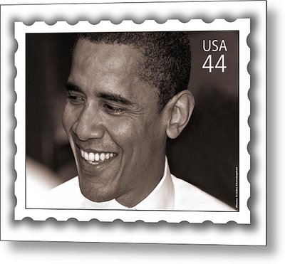 Barack Obama Portrait. Photographer Ellis Christopher Metal Print by Ellis Christopher