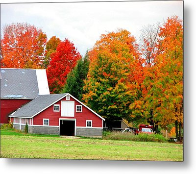 Barn Red Metal Print