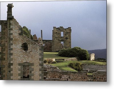 Barred Windows And Stone Ruins At Port Metal Print by Jason Edwards