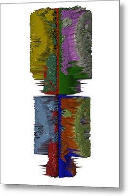 Bart Simpson's Spine Metal Print by Robert Margetts