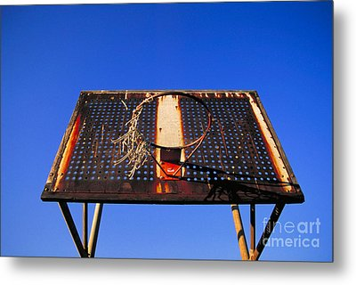Basketball Net Metal Print