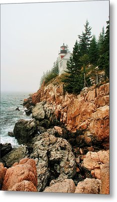 Bass Harbor Light Metal Print by Mary Hershberger