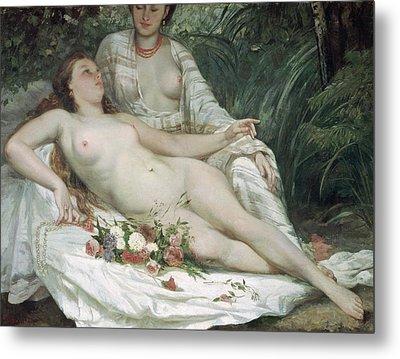 Bathers Or Two Nude Women Metal Print