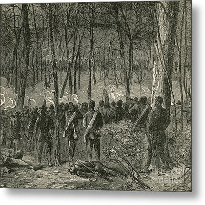 Battle Of The Wilderness, 1864 Metal Print by Photo Researchers