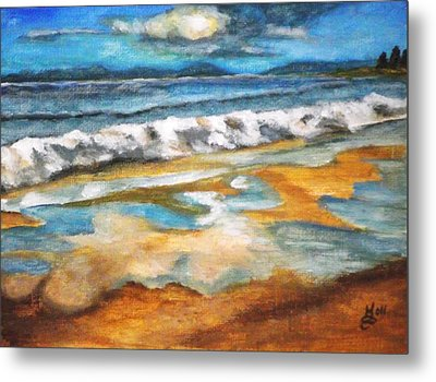 Beach Reflection Metal Print by Kim Selig
