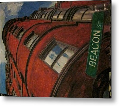 Beacon St Metal Print by David Poyant