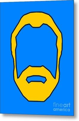 Beard Graphic  Metal Print by Pixel Chimp