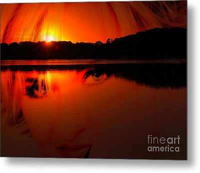 Metal Print featuring the photograph Beauty Looks Back by Clayton Bruster
