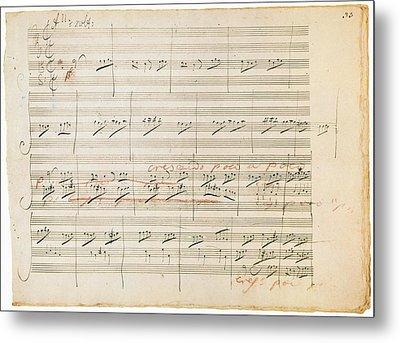 Beethoven Manuscript, 1806 Metal Print by Granger