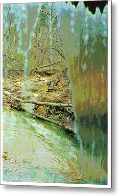 Behind The Waterfall Metal Print by Padre Art