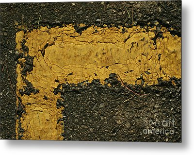 Behind The Yellow Line Metal Print by Stephen Mitchell
