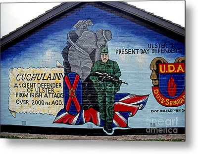 Belfast Mural Metal Print by Thomas R Fletcher
