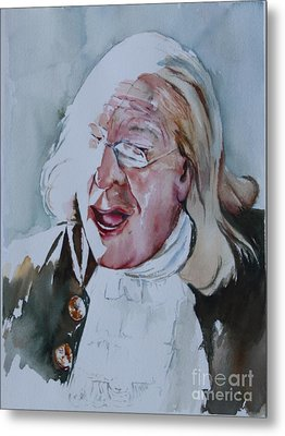 Ben Franklin Of Philadelphia Metal Print by Peg Ott Mcguckin