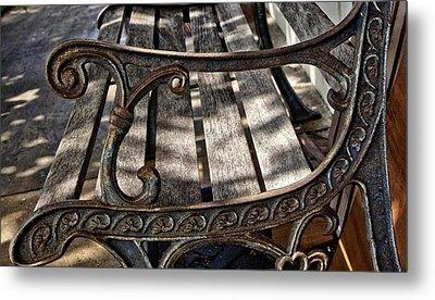 Bench View Metal Print by Nancie Rowan