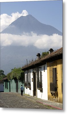 Beneath The Volcano Antigua Guatemala Metal Print by John  Mitchell
