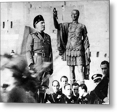 Benito Mussolini, 1943 Metal Print by Everett