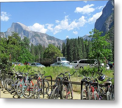 Metal Print featuring the photograph Bicycles Yosemite by Beth Saffer