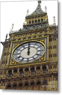 Metal Print featuring the photograph Big Ben High Noon by Beth Saffer