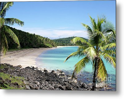 Metal Print featuring the photograph Big Corn Island Beach Nicaragua by John  Mitchell