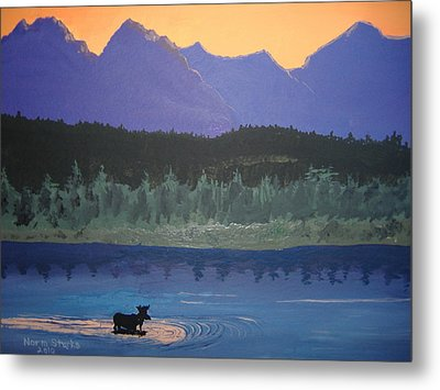 Metal Print featuring the painting Big Sky Country by Norm Starks