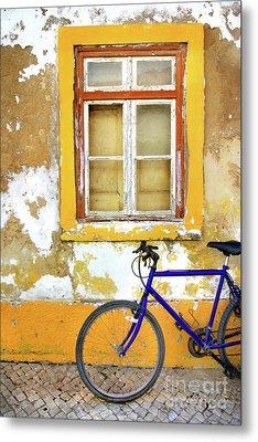 Bike Window Metal Print by Carlos Caetano