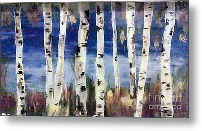 Birches Metal Print by Cathy Weaver