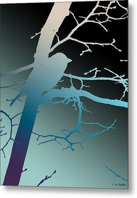 Bird At Twilight Metal Print