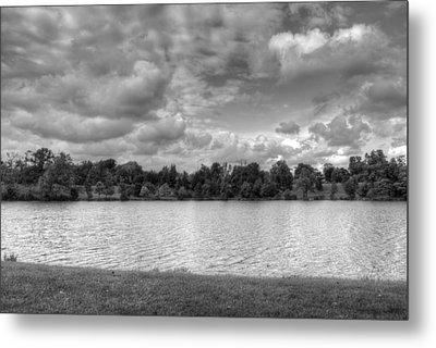 Metal Print featuring the photograph Black And White Autumn Day by Michael Frank Jr