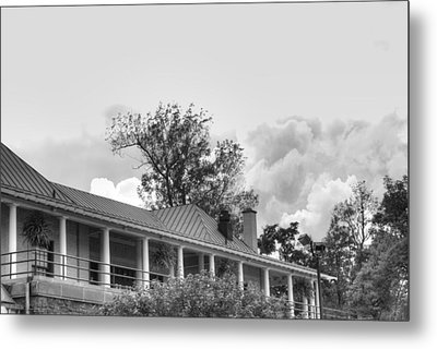 Metal Print featuring the photograph Black And White Delaware Casino by Michael Frank Jr