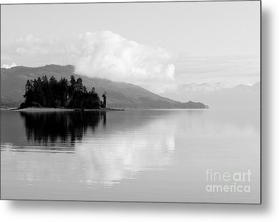 Black And White Island Near Hoonah Metal Print by Darcy Michaelchuk