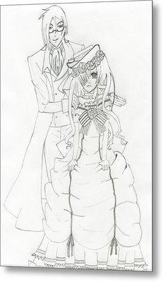 Black Butler Fan Art Metal Print by Ashley Rommel