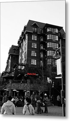 Blacks Pub Whistler Canada Metal Print