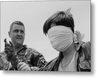 Blindfolded Viet Cong Pow. Us Marine Metal Print by Everett