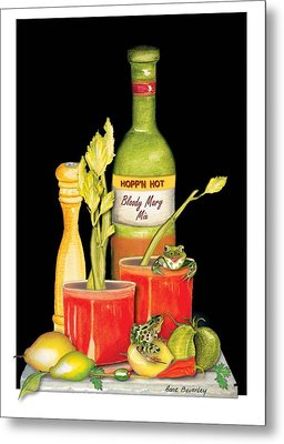 Metal Print featuring the painting Bloody Mary by Anne Beverley-Stamps