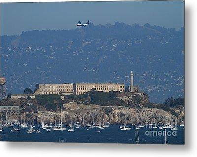 Blue Angels Fat Albert C130t Hercules Over Alcatraz . 7d7930 Metal Print