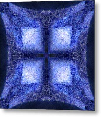 Blue Crystal Metal Print by Joe Halinar