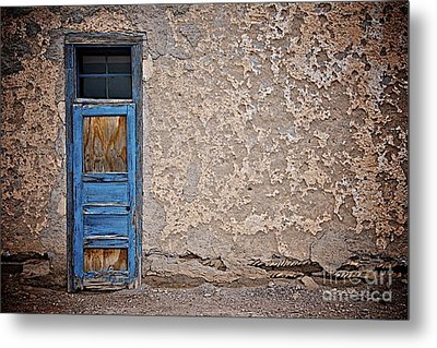 Blue Door Metal Print by Sherry Davis