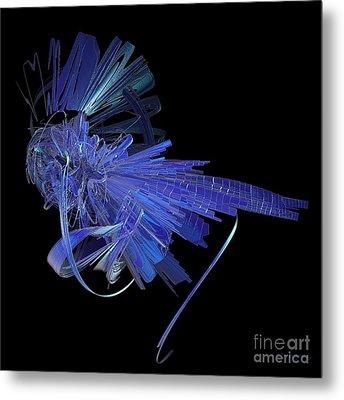 Blue Glass Hopper Metal Print