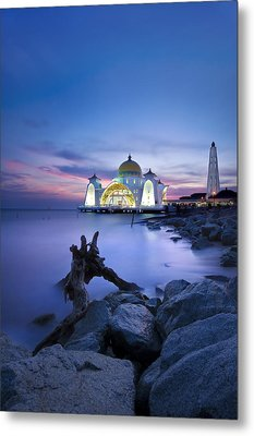 Blue Hour At The Mosque Metal Print