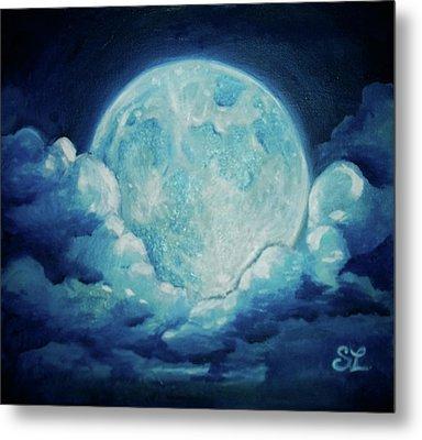 Blue Moon Metal Print by Sarah Lonthier