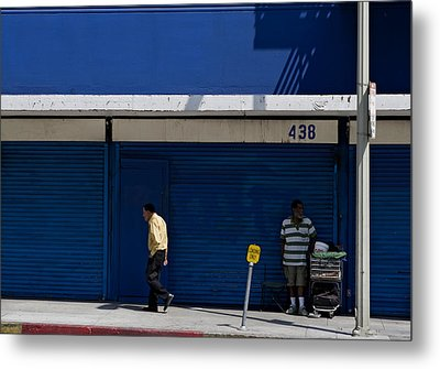 Metal Print featuring the photograph Blue Wall At 438 by Lorraine Devon Wilke