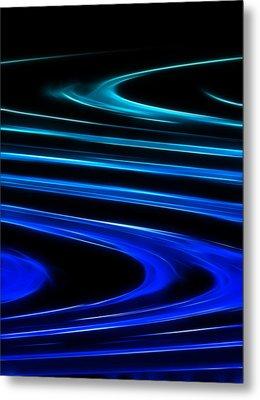 Blue Waves Metal Print by Ricky Barnard
