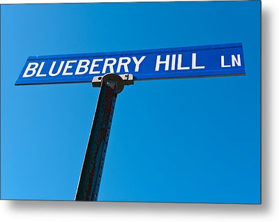 Blueberry Hill Sign Metal Print