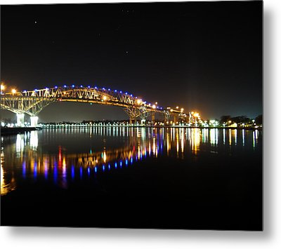 Bluewater Bridges On A Warm Spring Night Metal Print by Bruce Ritchie
