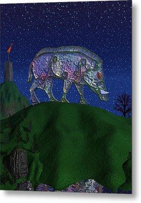 Boar King Metal Print by Diana Morningstar