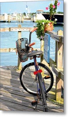 Metal Print featuring the photograph Boardwalk Bike by Kelly Nowak