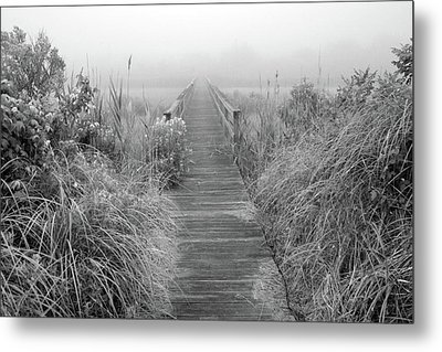 Boardwalk In Quogue Wildlife Preserve Metal Print by Rick Berk
