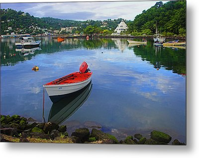 Metal Print featuring the photograph Boats-castries Harbor- St Lucia by Chester Williams