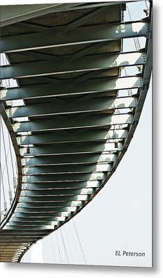 Bob Kerrey Pedestrian Bridge Metal Print by Edward Peterson